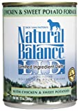 Natural Balance Canned Dog Food, Grain Free Limited Ingredient Diet Chicken and Sweet Potato Recipe, 12 x 13 Ounce Pack, My Pet Supplies