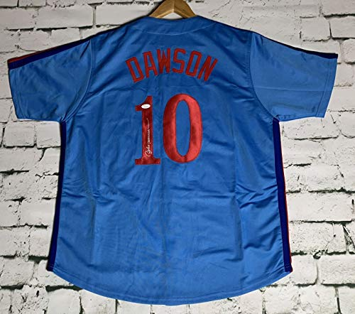 Andre Dawson Signed Autographed Montreal Expos Throwback Baseball Jersey - JSA COA ()