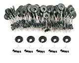 DRCFISHING 600 Pcs Fishing Rubber Bobber Beads Stopper, 6 in 1 Float Sinker Stops, Black Oval,Size L,M,S Available (M)