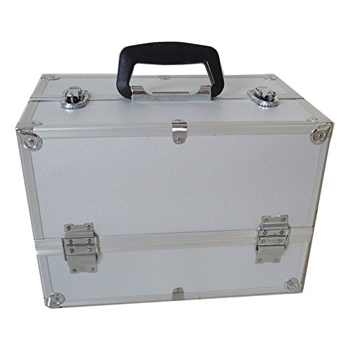SRA Cases EN-AC-YA-001 Aluminum Hard Case with Fold Out Tray 142 x 9 x 98 Silver