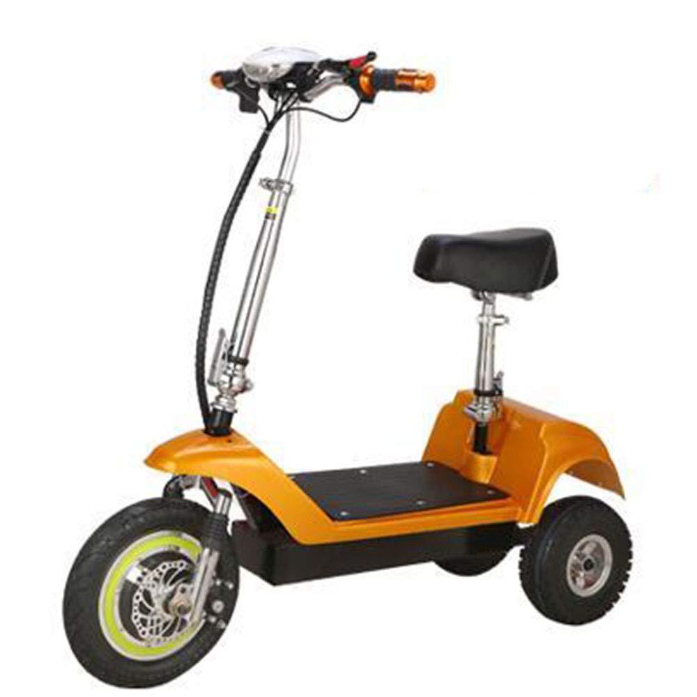 SZPDD Bicicleta eléctrica Plegable de 3 Ruedas E-Bike (12 Pulgadas ...