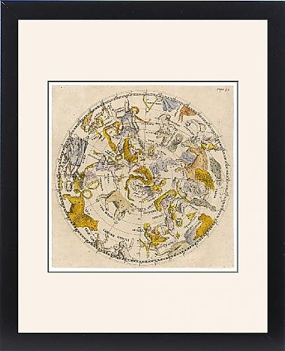 Framed Print Of Sky Chart by Prints Prints Prints