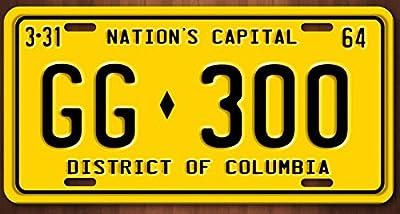 JFK Presidential Limousine Washington DC GG 300 Aluminum Replica License Plate