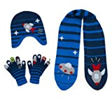 Kidorable Blue Space Hero Soft Hat/Scarf/Glove Set