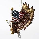 Kurt Adler Resin Patriotic Eagle with the American Flag Ornament