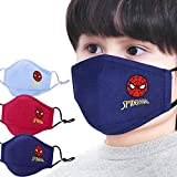 The Hero Kid Spiderman Boys Mask Dust proof 100% special filter washable & comfortable, cotton fabric embroidery,3-8…