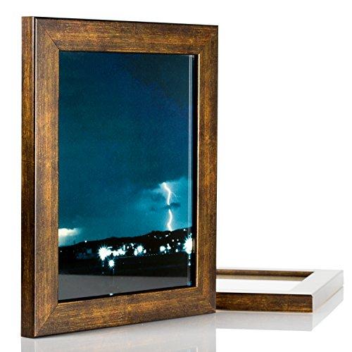 Craig Frames Bauhaus, Modern Aged Copper Picture Frame, 10 b