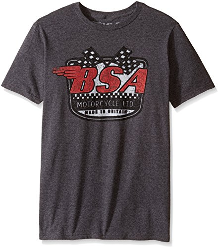 T-Line Men's BSA Motorcycles Logo Drive Graphic T-Shirt, Charcoal Heather, X-Large
