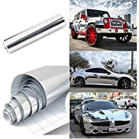 CVANU Gloss Chrome Mirror Vinyl Car Wrap Sticker with Air Release Bubble Free Anti-Wrinkle CV-63 12''x24''inch