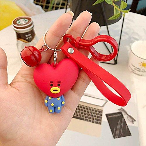 Cartoon Keychain - Bosunshine New Hot Cute Plush Cartoon Keychain Key Ring Bag Streamers (Bell-6)