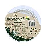 "EcoSoulife EBDH0031NT 7"" Cornstarch Plate Set-20 Pack-Biodegradable Disposable Natural"