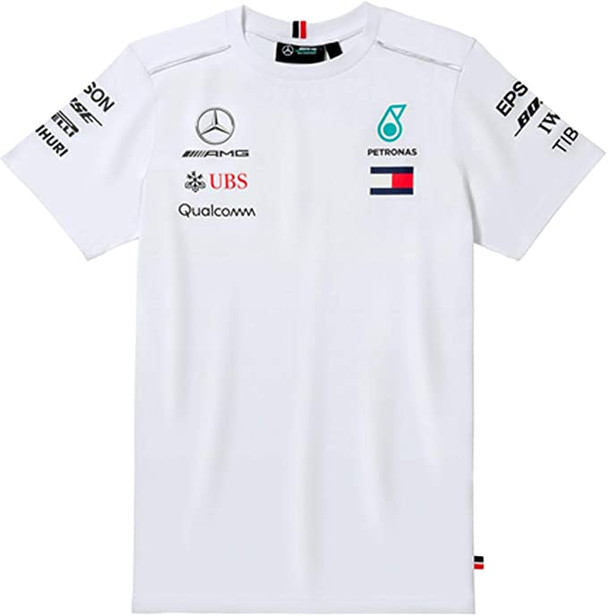Camiseta original de Mercedes-Benz para hombre, conductor, color blanco, AMG Petronas Motorsport: Amazon.es: Ropa y accesorios