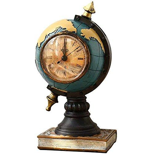 Globe Desk Clock - Wazonton Globe Clock, Classic Desk Clock Coin Saving Box-Creative Home Décor (Blue)