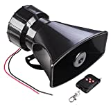 Yescom Wireless Remote Control 7 Sound Horn Car Warning Alarm Police Fire Siren Speaker Emergency Amplifier