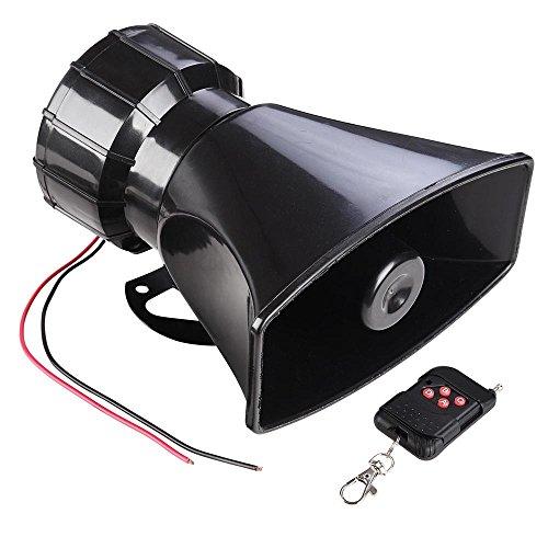 Yescom Wireless Remote Control 7 Sound Horn Car Warning Alarm Police Fire Siren Speaker Emergency (Police Siren Horn)