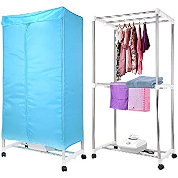 Elegant Yescom Portable Electric Clothing Dryer Rack 1000W Heater Wardrobe Drying  Rack Home