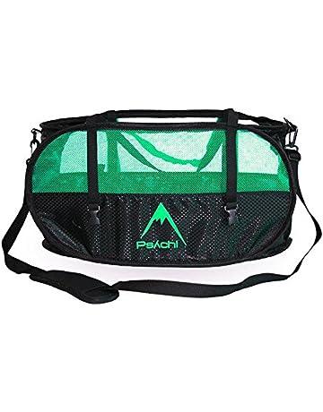 Bolsa para cuerdas de escalada Psychi con tirantes para su transporte y correas de ajuste,