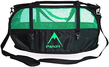 Psychi - Bolsa para Cuerda y Material de Escalada - con Asas de Transporte y Tiras para Fijar Aparejos