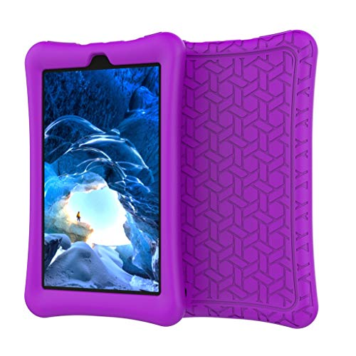 Vansee❤❤for Amazon Kindle Fire HD 7Inch 2019 Case Slim Cover Silica Gel E-Book Shell (Purple) -
