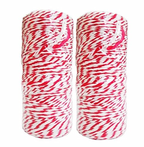 NEW 2 PCS Whit Red Rope For Parcel Box