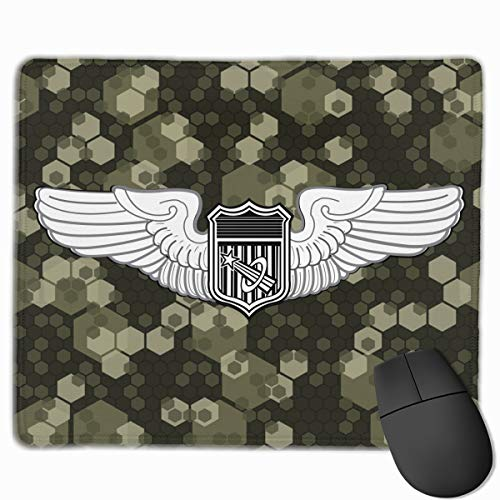 - Army Astronaut Wings Mouse Pads Pack with Non-Slip Rubber Base Mouse Pad for Computers, Laptop, Office & Home
