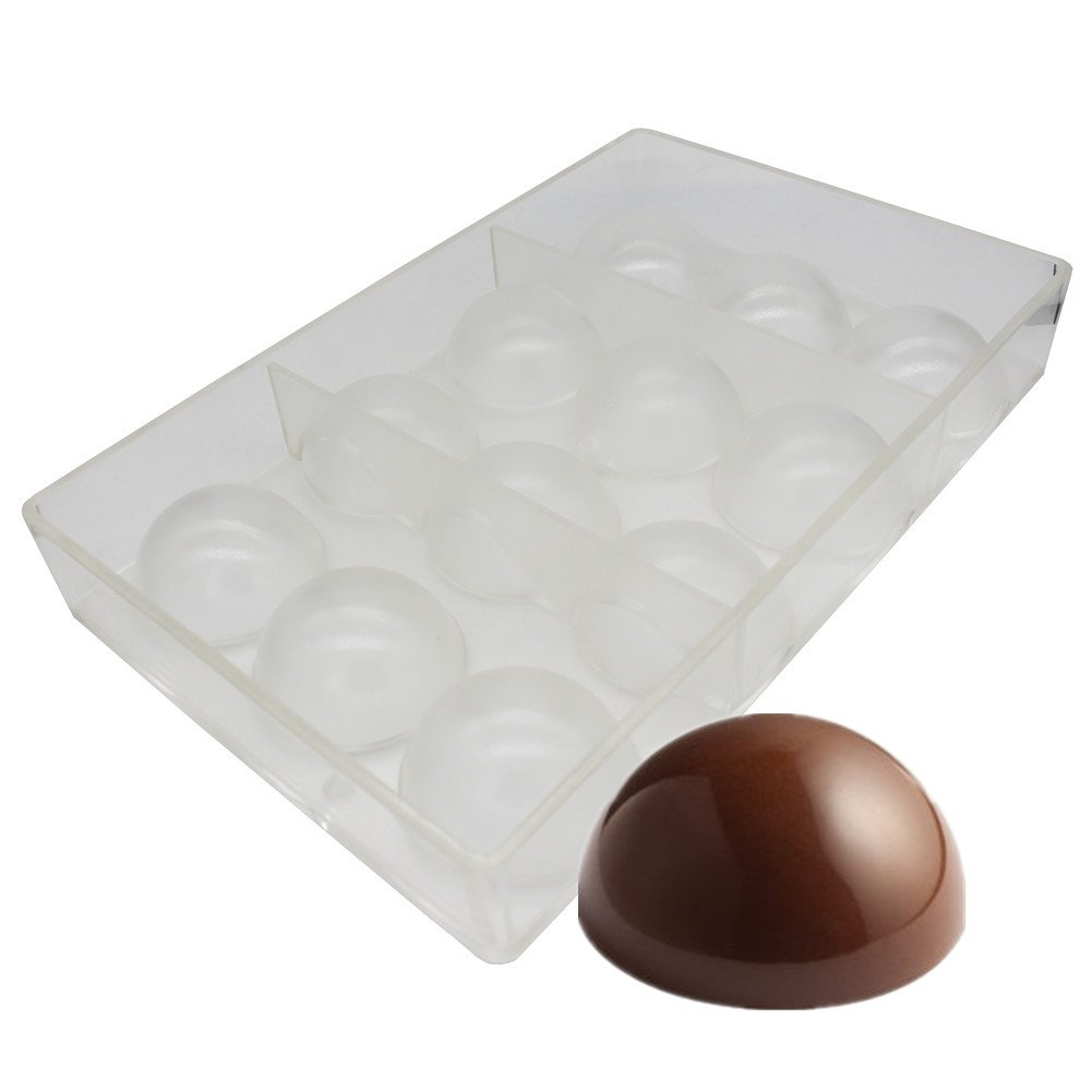 Goldbaking Ball Chocolate Mold Ball Polycarbonate Mould Chocolate Mold Tray (Middle 2inch)
