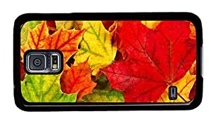 Hipster Samsung Galaxy S5 Case customizable colorful autumn leaves PC Black for Samsung S5