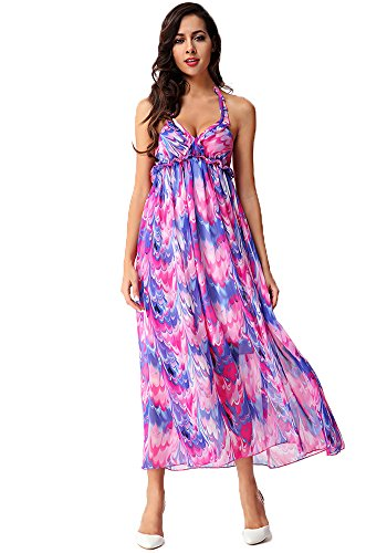 picture Halter Beach Long Backless Maxi as Women's Dress Bohemian DOOXILADY pz7Uwx