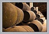 Sherry Casks, Bodegas Gonzalez Byass, Jerez de la Frontera, Spain by Walter Bibikow / Danita Delimont Framed Art Print Wall Picture, Flat Silver Frame, 41 x 28 inches