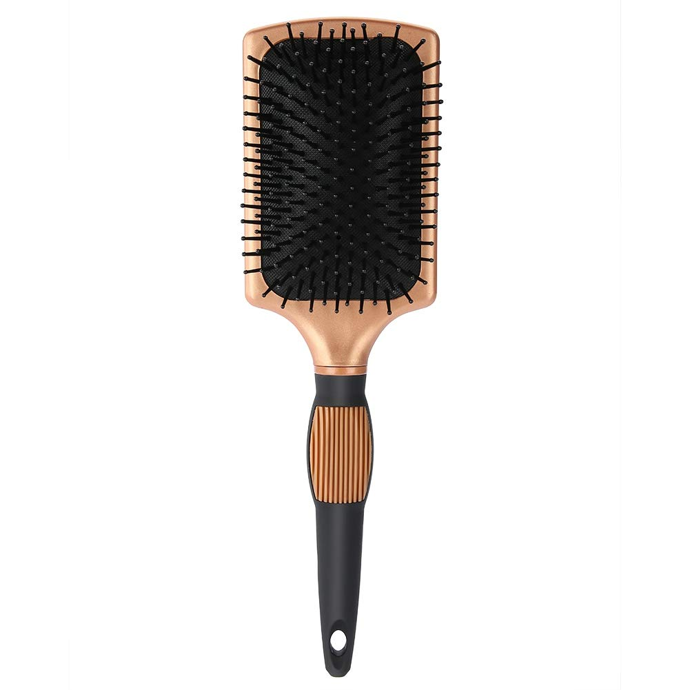 Cushioned Hair Brush Comb, ABS Material Scalp Massage Hair Brush, Anti-Static Paddle Brush for All Hair Types, Hairbrush for Massaging Scalp by Alucy