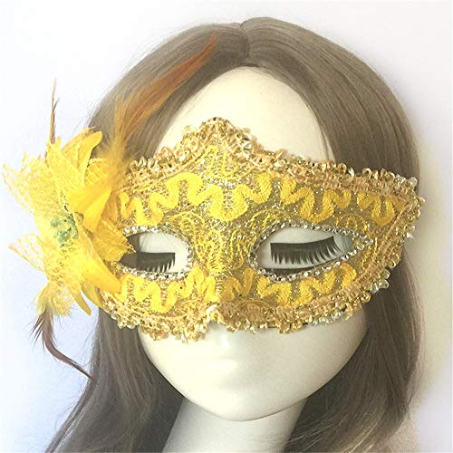 Halloween Mask Half Face Masquerade Butterfly Mask Lace Dating Girl Performing Child Mask 5]()