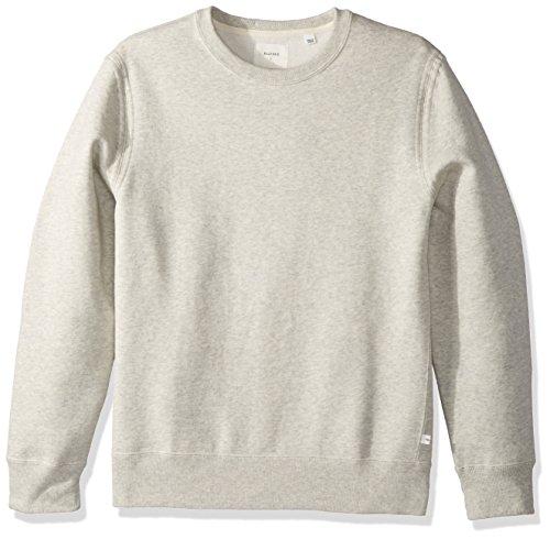 Billy Reid Men's Pullover Dover Crew Sweatshirt with Leat...
