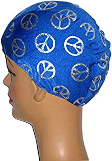 product image for Royal Blue Peace Sign Toddler Lycra Swim Cap