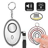 Personal Alarm-120dB/130dB/140dB Emergency Personal Alarm Keychain with LED Flashlight for Self Defense Safety Protection
