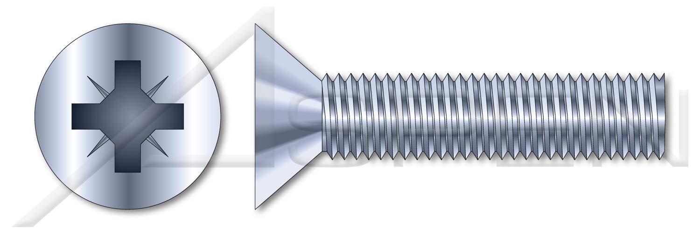 (10000 pcs) M2-0.4 X 6mm, DIN 7500 Type M, Metric, Thread Rolling Screws, Flat Countersunk Cross Recess Type Z, Steel, Zinc Plated by ASPEN FASTENERS