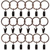 #2: 18 Pack Curtain Clips Rings Strong Metal Decorative Drapery window Curtain Ring with Clip Rustproof Vintage Copper Color