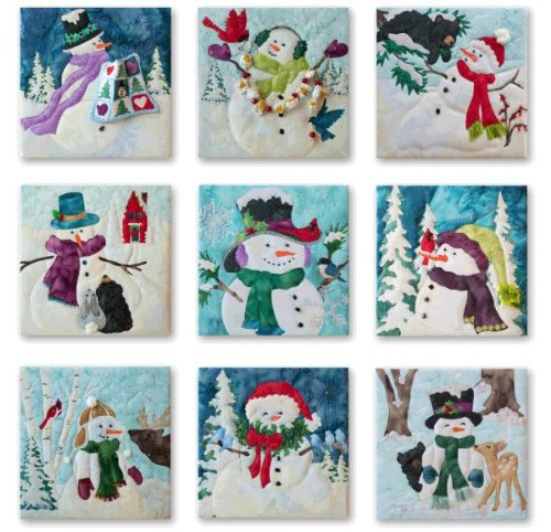 Snow Buds Snowmen Winter Quilt Pattern Set of 9 Mckenna Ryan Pine Needles by McKenna Ryan