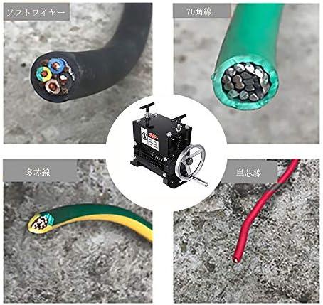 剥線器 ワイヤーストリッパー 1-17mm 7ブレード ケーブル剥離機 手動多孔 小型 卓上型 丸線 平線 角線 家庭用 業務用