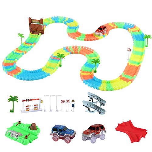 Gili Race Car Track Building Track toy Set Glow in the Dark Car for 3 years old kids product image