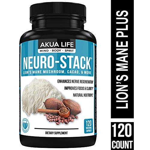 - Organic Lions Mane Mushroom Capsules PLUS-21-ADDITIONAL-NOOTROPICS - Research Our Ingredients - Anxiety Relief - Ashwagandha, Focus Supplement, Phosphatidylserine,Ginkgo Biloba,Lemon Balm,Brain Boost