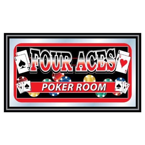Four Aces Framed Logo Mirror