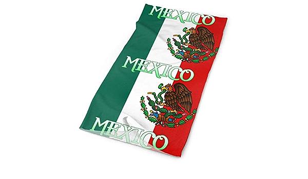 Annays Pañuelo México Bandera Mexicana Tubo Pañuelos Sombreros Diadema Multi Bufanda Mascarilla Cuello Polaina 25x50cm: Amazon.es: Deportes y aire libre
