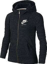 Girl\'s Nike Sportswear Gym Vintage Hoodie Black/Sail Size Medium