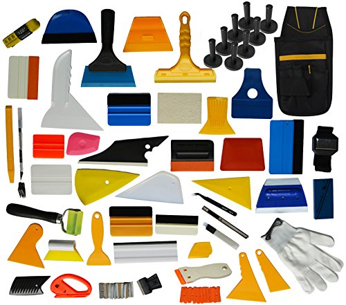 Ehids Professional Window Film Vinyl Wrap Kit Including All Tools Full Complete Squeegees, Scrapers, Cutters, Holders, Tool Pouch by Ehdis