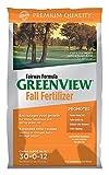 GreenView Fairway Formula Fall Lawn Fertilizer, 25 lb bag, Covers 5,000 Sq. Ft