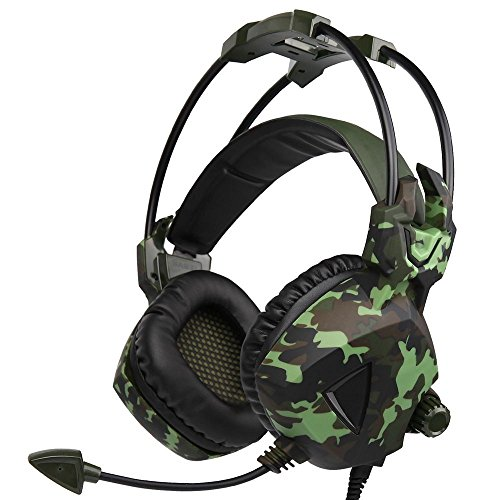 XHKCYOEJ Headset Stereo Headset/Headphones/Headphones/Computer/Camouflage/Wired,Camouflage: Amazon.co.uk: Electronics