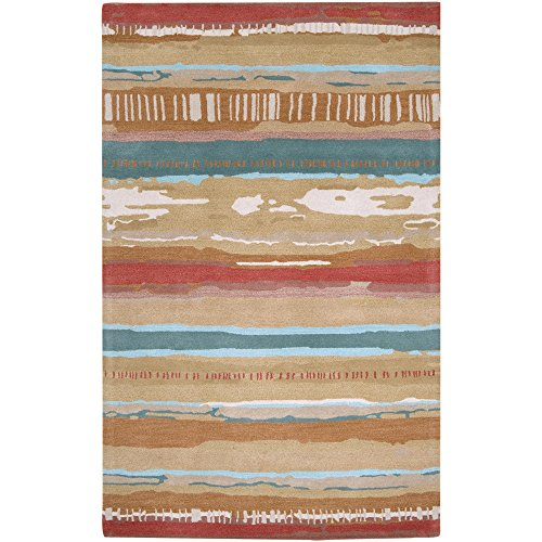 Surya Stella Smith II STSII-9077 Transitional Hand Tufted 100% New Zealand Wool Coral 2' x 3' Accent (Surya Coral)