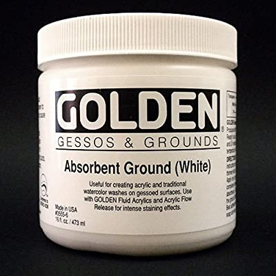 Golden Acrylic Absorbant Ground White - 128 oz Jar