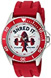 eWatchFactory Men's 'Shark Week' Quartz Stainless Steel and Rubber Sport Watch, Color:Red (Model: WDC000067)