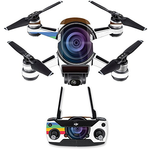 MightySkins Skin for DJI Spark Mini Drone Combo - Vintage Polaroid | Protective, Durable, and Unique Vinyl Decal wrap Cover | Easy to Apply, Remove, and Change Styles | Made in The USA